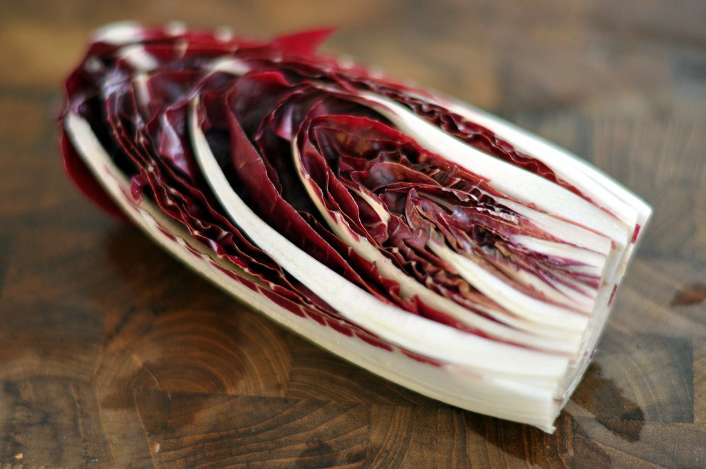 Radicchio from the chicory family of vegetables